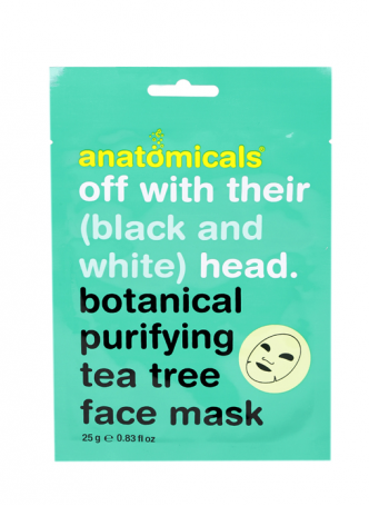 Anatomicals Tea Tree Botanical Cloth Face Mask (Pack of 2)