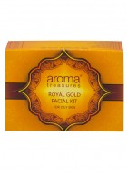 Aroma Treasures Royal Gold Facial Kit For Oily Skin One Time Use - Pack Of 2