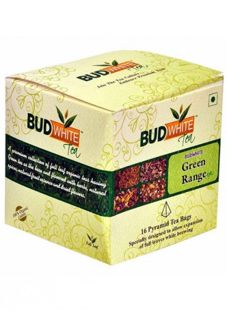 BudWhiteTeas Combo Pack of Green Tea Range (4x4 Tea Bags)