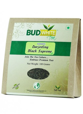 BudWhiteTeas Darjeeling Black Supreme Tea (100 Gms Pack)