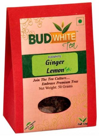 BudWhiteTeas Ginger Lemon Tea (50 Gms Pack)