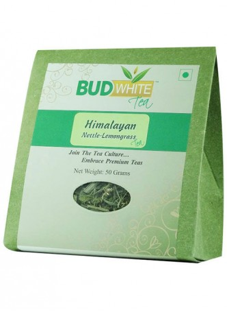 BudWhiteTeas Himalayan Nettle-Lemongrass Herbal Tea (50 Gms Pack)