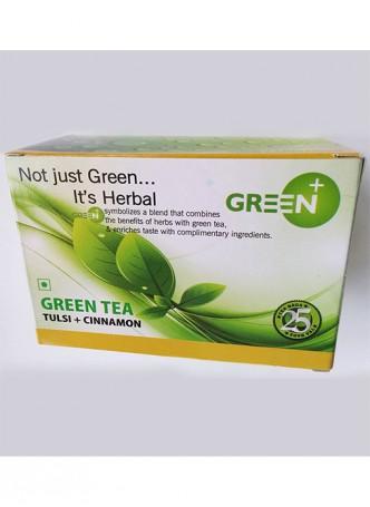 Budwhite Teas Green+ Tulsi Cinnamon-25 Teabags