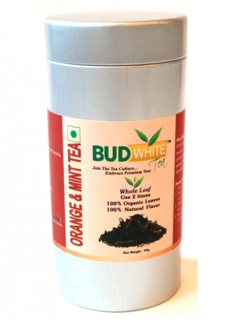 Budwhite Teas Orange And Mint Tea-50 Gm Loose Tin