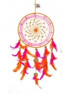 Dream Catcher by Rooh-Pink and Orange with Gold Elephants