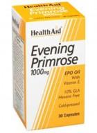 HealthAid Evening Primrose Oil 1000mg With Vitamin E 30 Capsules