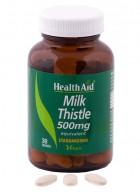 HealthAid Milk Thistle 500mg-Equivalent 30 Tablets