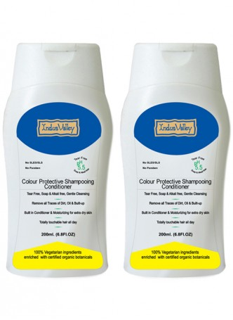 Indus Valley Natural Colour protective Shampooing Conditioner (Pack of 2)