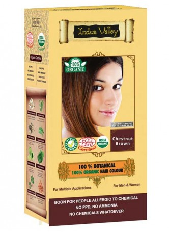 Indus Valley 100% Organic Chestnut Brown Hair Colour
