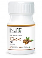 INLIFE Sweet Almond Extra Virgin Cold Pressed Oil, 60 Veg. Caps For Pigmentation