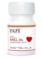 Inlife Krill Oil Omega 3 Fatty Acid Supplement 500mg-30 Capsules