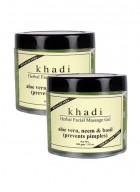 Khadi Aloevera, Neem and Basil Face Massage Gel-100g Set of 2
