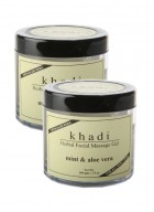 Khadi Mint and Aloevera Face Massage Gel-100g Set of 2