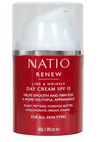 Natio Renew Line and Wrinkle Day Cream SPF 15