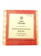 Raw Rituals Sandalwood and Geranium Body Bar (Pack of 2)