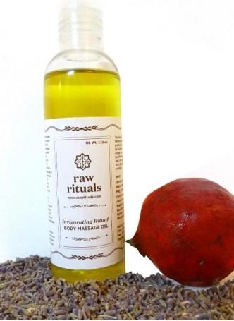 Raw Rituals Invigorating Ritual - Body Massage Oil