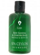 Spa Ceylon Red Sandal and Lemongrass Massage and Bath Oil