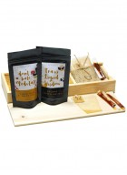 Tea Treasure Combo (Lemon Tulsi & Oolong Darjeeling Tea) - Wood Box