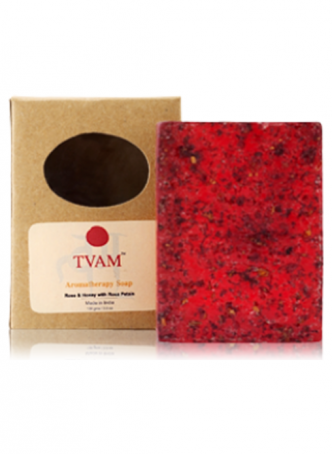 Tvam Handmade Soap - Rose Petals and Honey Aromatherapy