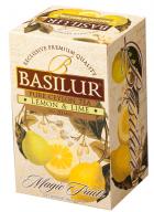 Basilur Magic Fruits Lemon and Lime - 20 Flavored Black Tea Bags in Foil Sachets