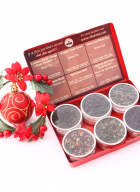 Chado Tea 6 Can Red Aluminum Gift Box Red