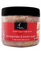 Natural Bath and Body Brown Sugar Body Scrub - Pomegrenate