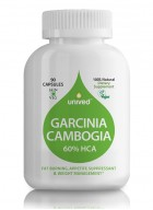 Unived Garcinia Cambogia, 60% HCA, 500mg Per Capsule, Fat Burner, Appetite Suppressant, Weight Management, 90 Veg Caps