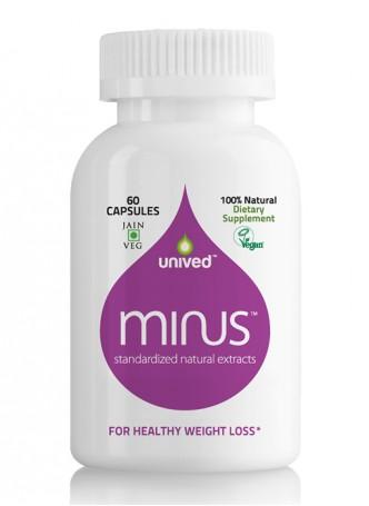Unived MINUS, Garcinia Cambogia, Green Coffee Bean, L-Carnitine, Healthy Weight Loss & Fat Burning, 60 Veg Caps