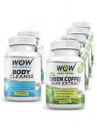 Wow Green Coffee Diet With Wow Body Cleanse Combo Booster - Pack Of 6