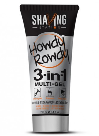Shaving Station - Howdy Rowdy 3 in 1 Gel (Pack of 2)