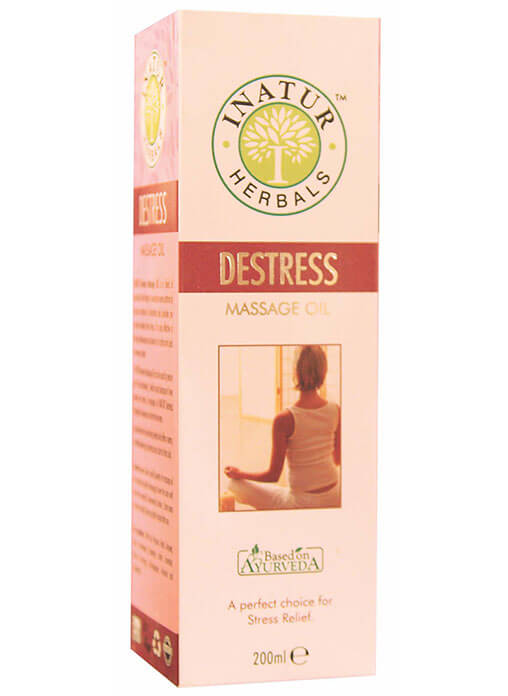 Inatur Herbal De-Stress Body Massage Oil