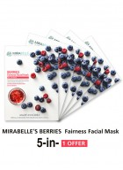 Mirabelle Korea Berries Fairness Facial Mask (Pack of 5)