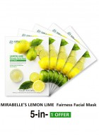 Mirabelle Korea Lemon Fairness Facial Mask (Pack of 5)