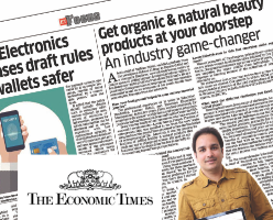 Coverage in The Economic Times