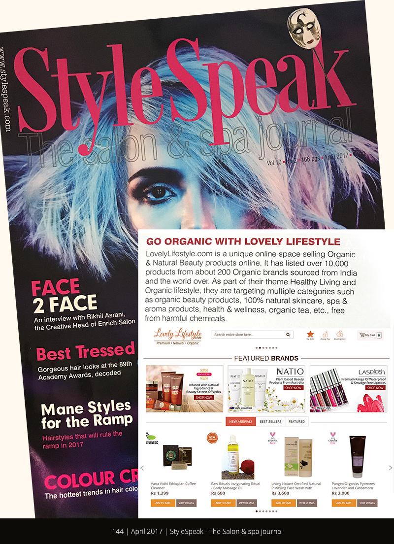 LovelyLifestyle featured in StyleSpeak Magazine - April 2017