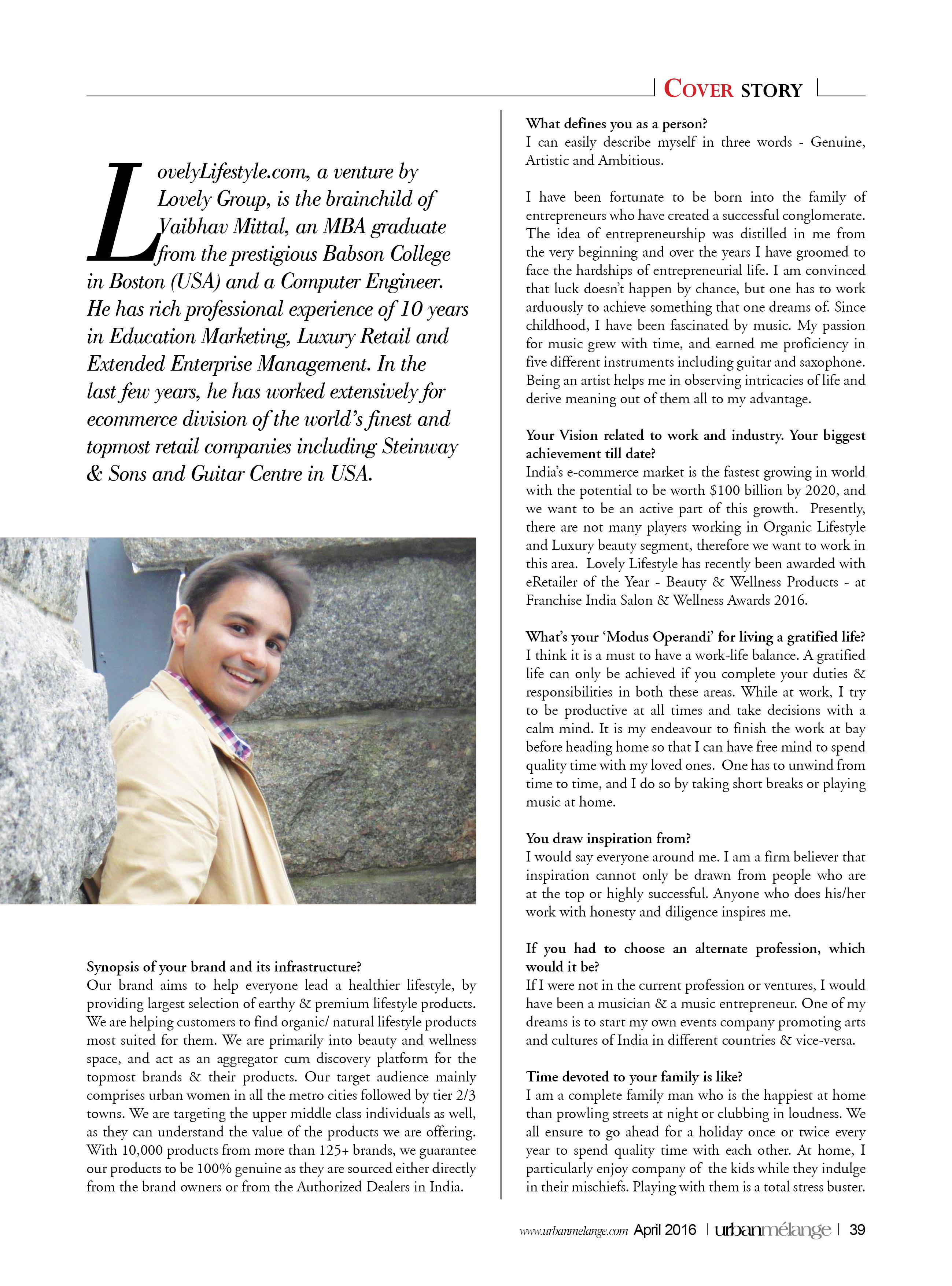 Urban Melange Magazine LoveLifestyle